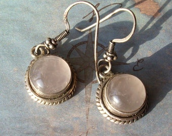 Sterling Silver and Quartz Stone Earrings     008