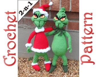 Mr. Grouch A 2-in-1 Crochet Pattern by Erin Scull