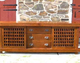 Mission, Arts & Crafts Style TV Cabinet with Lift for flat screen TV.