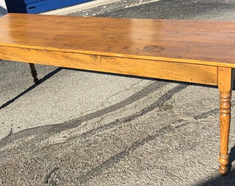 Antique Harvest Farm Table 29h96L29.5d Shipping is not free
