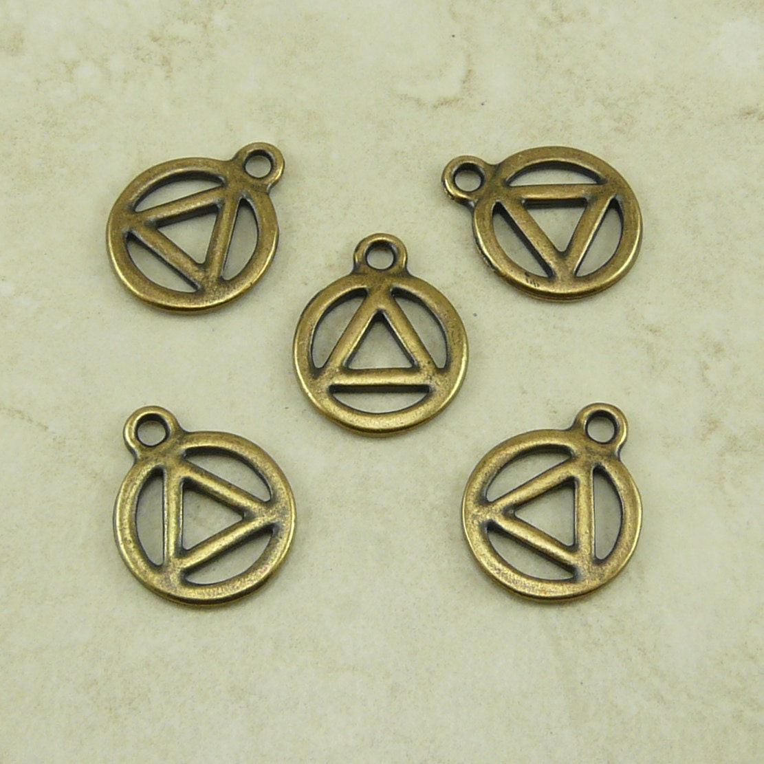 5 tierracast 12 step aa recovery serenity symbol charms zoom biocorpaavc Gallery