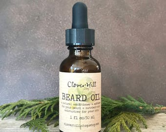 Coconut Woods Beard Oil, Beard Conditioner, Beard Softener, Men's Facial Moisturizer, Beard Grooming Oil, Skincare For Men, 1oz/30ml