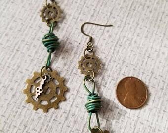 Steampunk Style Earrings