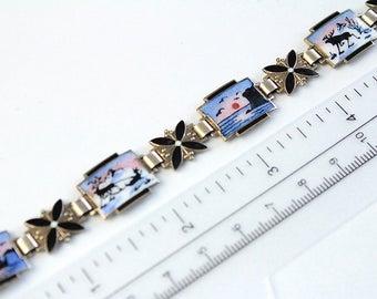 Vintage Norway sterling silver l Viking  Bracelet #885