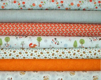 Gentle Forest Fat Quarter Bundle of 7 NO Panel by Tea & Sympathy for Studio E