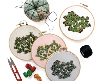 Out of Retirement! March Pattern Contemporary Embroidery PDF by Sarah K. Benning - #SKBDIY Single Month PDF Download - Cactus Cutie