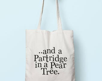 And A Partridge In A Pear Tree Tote Bag Long Handles TB1137