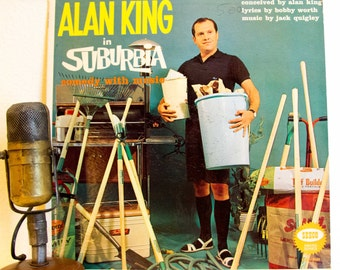 "Alan King Vinyl Record Album LP 1960s Comedy Standup Comedian Laughs Party Record ""Alan King In Suburbia"" (1960 Seeco w/""Who Needs It"")"