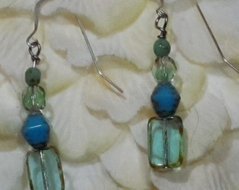 Hand made OOAK Drop Dangle Earring on Sterling Ear Wires - Can be Switched to Posts.