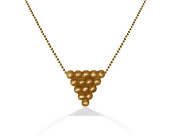 Gold Necklace for Women, Elegant V Pendant for her, Layering Necklace, Minimal Geomtrical Pendant, Unique Design,  Gift for Modern Mom