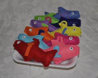 Felt Fish Counting Toy Set 18 m and up