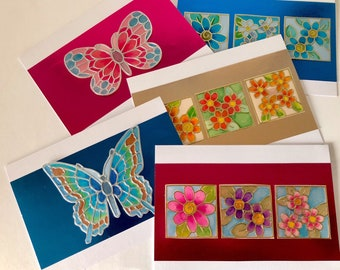 Handmade all occasion cards 5 pack