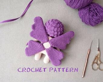 Crochet PATTERN: Butterfly Doll Amigurumi Toy