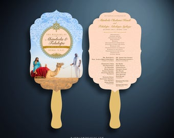 OLA Arabesque Fan Die Cut Wedding Program