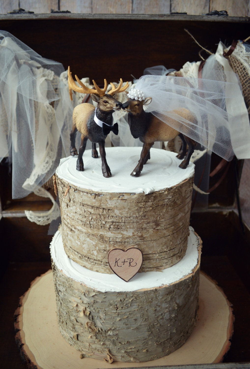 hunting themed wedding cake toppers elk elk wedding cake topper 16212