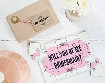 Will you be my Bridesmaid Jigsaw - Personalised Will you be my Bridesmaid Proposal Puzzle, Personalised Will you be my Bridesmaid Gift