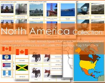 Montessori NORTH AMERICA Continent Collection
