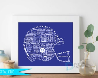 Football Coach Gift, Football Gifts, Gift for Football Coach, Football Player Gift, Coaches Gift, Coach Retirement, Personalized Coach Gift