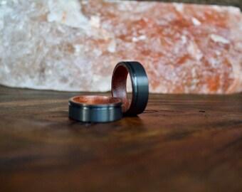 Mens Wood Ring, Tungsten Wedding Ring, Wood Ring, wooden ring, wooden rings, Wood wedding band, Wood rings for men, Wood, Mens Wooden Band