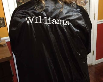 Jacket embroidered with name