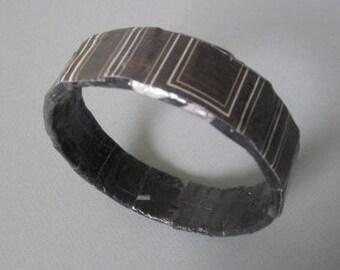 Brown Geometric Bangle Bracelet