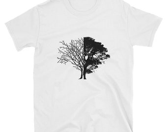 Life Death Art Inspired Tree Leaves Nature Outdoors Men's T-Shirt