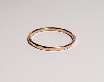 Dainty 14K Rose Gold Reflections of Love Wedding Band | Recycled Gold Wedding Bands | Simple Wedding Bands | Textured Wedding Bands.