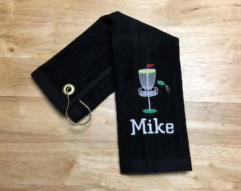 Disc golf, Personalized disc golf towel, disc golf gift, team towels, disc golf towel, embroidered towel, personalized,