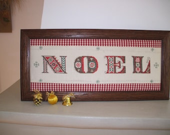 Christmas ornament, cross stitch Embroidery