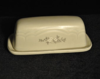 Pfaltzgraff Covered Butter Dish in the Heirloom Pattern