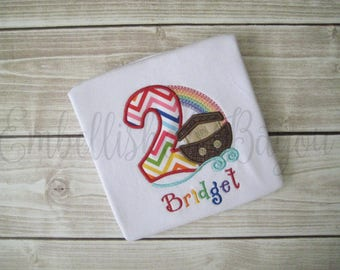 Noah's Ark Appliqued Birthday Number Personalized T-shirt for Boys or Girls