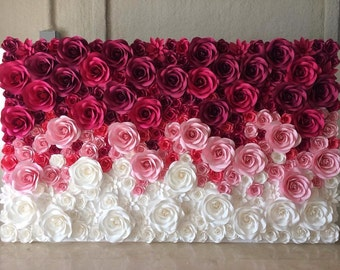 large paper flowers paper flower backdrop giant paper flowers backdrop paper flower wedding decor paper flower wall