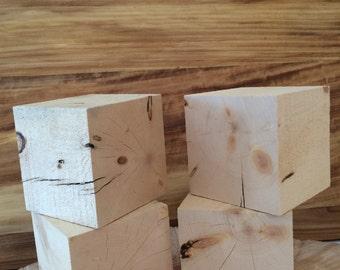 4 Pinyon Pine 4 inch Blocks