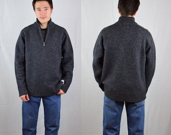 Mens Sweater Vintage Mens Hallensteins Brothers 100% Lambswool Sweater / Size L