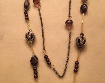 Necklace, Gothic Bronze and Copper