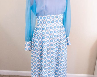 60s Prom Dress - S/M - Vintage Prom Dress - Retro Prom Dress - Lace Prom Dress - Boho Wedding Dress - Vintage Wedding Dress - Formal Dress