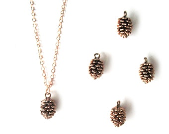 Rose gold pinecone necklace Rose Pinecone Necklace Pink gold pinecone winter necklace Forest necklace Woodland necklace Rose Gold Filled