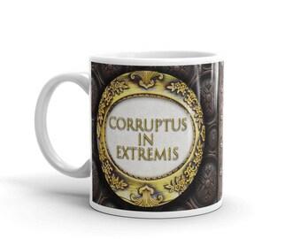 "Latin Steampunk Mug - ""Corrupt to the Extreme"""
