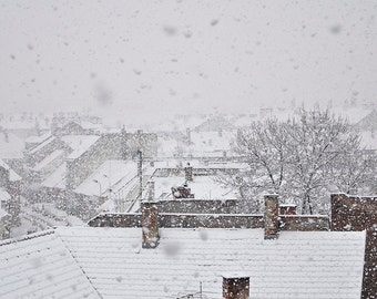 Snow Print Winter Landscape Print Wall Art Snowy Houses Print Printable Poster Snow Fine Art Photo Winter Poster Home Decor Digital Download