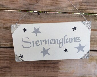 "Decorative wooden sign""Star shine"