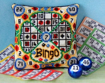 Bingo Mini Cushion Cross Stitch Kit
