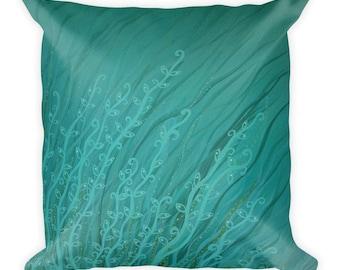 Eye Dig An Octopus Garden by Jennifer Gregory Portz - Art Pillow