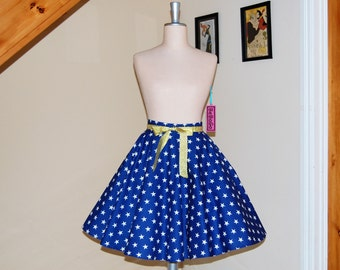 Wonder Woman inspired skirt,Full Circle Skirt .