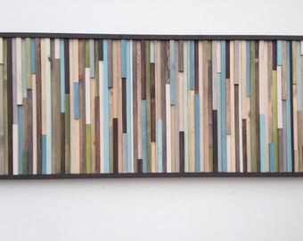 Wood Wall Art - Wood Wall Art - Reclaimed Wood Art Sculpture - Modern Wall Art