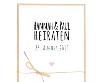 Wedding Invitations-DIY Kit-H & P