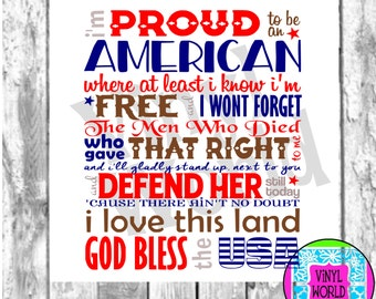 svg,Proud American, Patriotic Subway, 4th of July, Memorial Cut File, Cricut, Silhouette, DXF, EPS, pdf, png, jpeg, cuttable, decal, htv