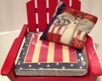 Stars and Stripes Adirondack chair napkin holder