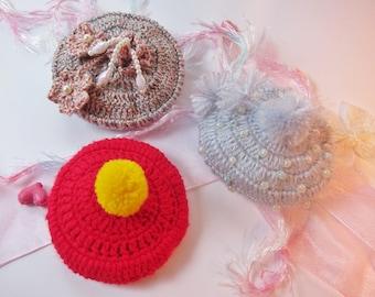 Blythe BJD outfits : A Crochet Fascinator Hat for Dolls