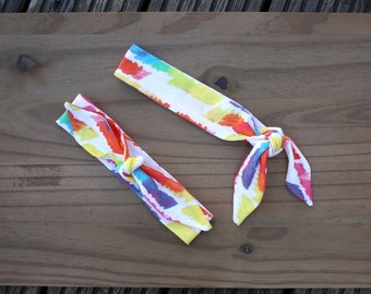 Rainbow Fabric Headband for Boys / Toddler Boy HairBand / Kid Headband / Tie on Headband, Boy Bandana Headband, Unisex Pride Month Accessory