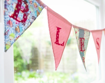 Personalised bunting, Personalised bunting, Company name sign, Bunting for all events and occasions, Shops/ Tearooms names on a bunting